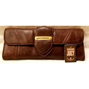 Juicy Couture Distressed Leather Clutch Wallet